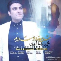 دانلود آهنگ جدید محمدرضا آذری  من دیوونه دوست دارم با کیفیت بالا